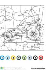 Coloriage magique CE1: un buggy