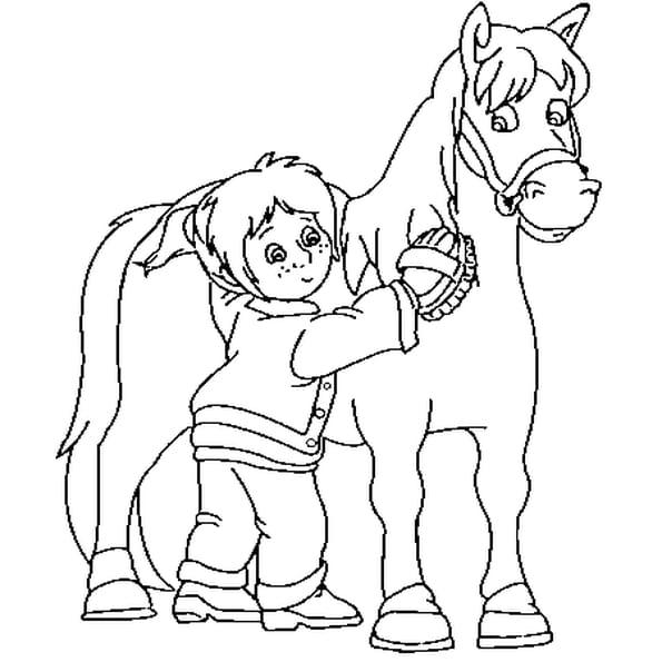 Coloriage cheval de trait en Ligne Gratuit à imprimer
