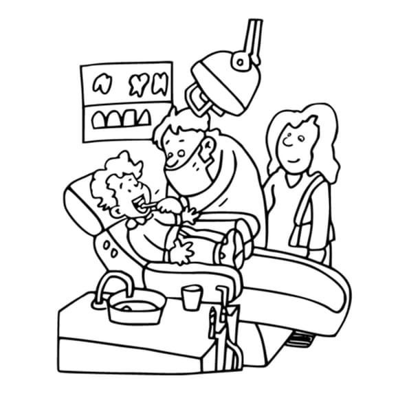 Coloriage Dentiste en Ligne Gratuit à imprimer