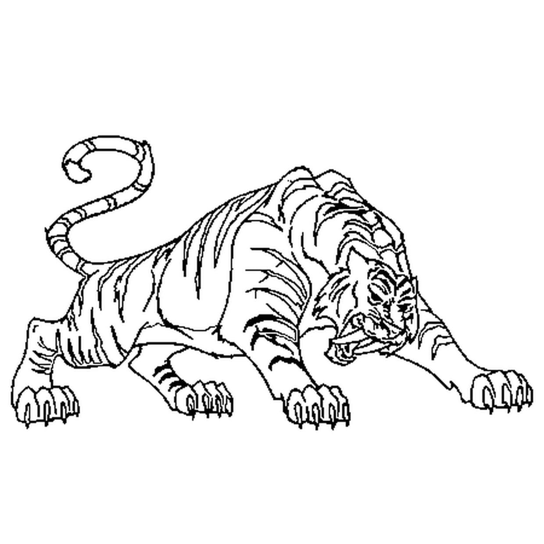 Coloriage Tigre à Dents De Sabre En Ligne Gratuit à Imprimer