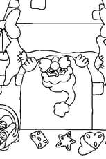 Coloriage de Cheminée de Noël