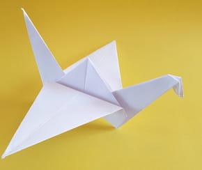 Origami grue: la méthode facile