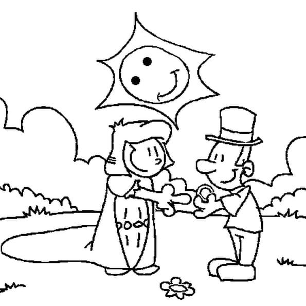Coloriage de la st valentin en Ligne Gratuit à imprimer
