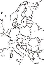 Coloriage carte union européenne