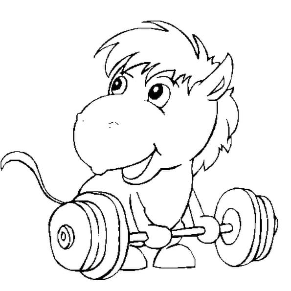 Dessin cheval cirque a colorier