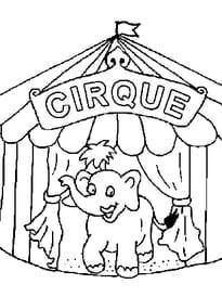 Coloriage Magique Cirque Gs.Coloriage Cirque Sur Hugolescargot Com