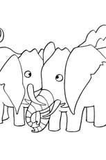 Coloriage Dessin Eléphant en Ligne Gratuit à imprimer