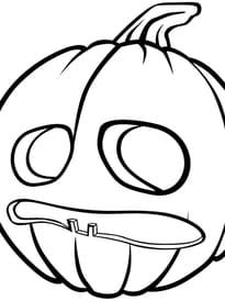 Citrouille d'Halloween qui a peur