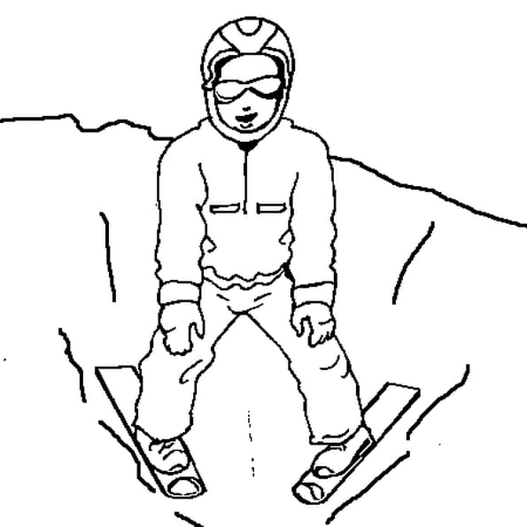 Coloriage Chasse neige