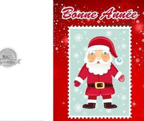 Carte timbre Père Noël