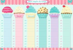 Emploi du temps cupcakes