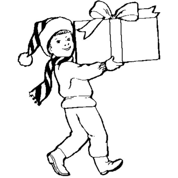 Coloriage Paquet Cadeau en Ligne Gratuit à imprimer