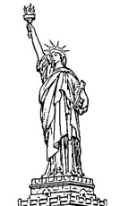 Coloriage statue de la liberte en Ligne Gratuit à imprimer