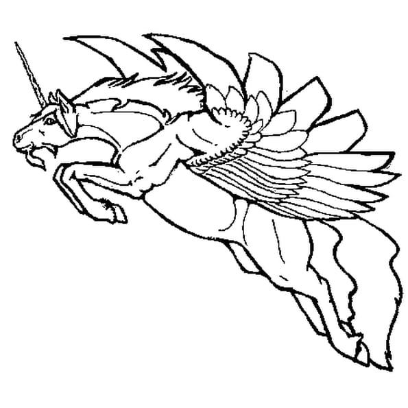 Licorne ail e coloriage licorne ail e en ligne gratuit a imprimer sur coloriage tv - Coloriage licorne ailee ...