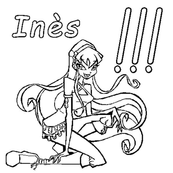Dessin Inès a colorier