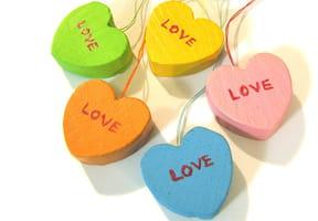 Les bonbons cœurs