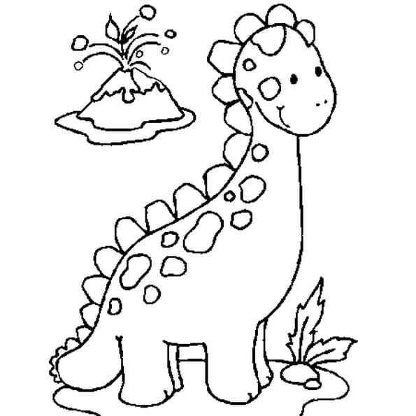 Coloriage bébé dinosaure en Ligne Gratuit à imprimer