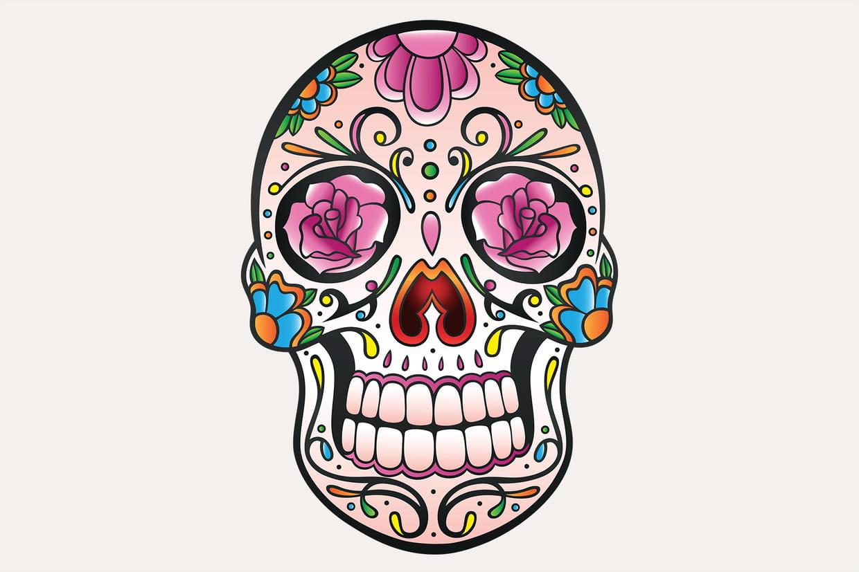 Coloriage Tetes De Mort Du Mexique Sur Hugolescargot Com