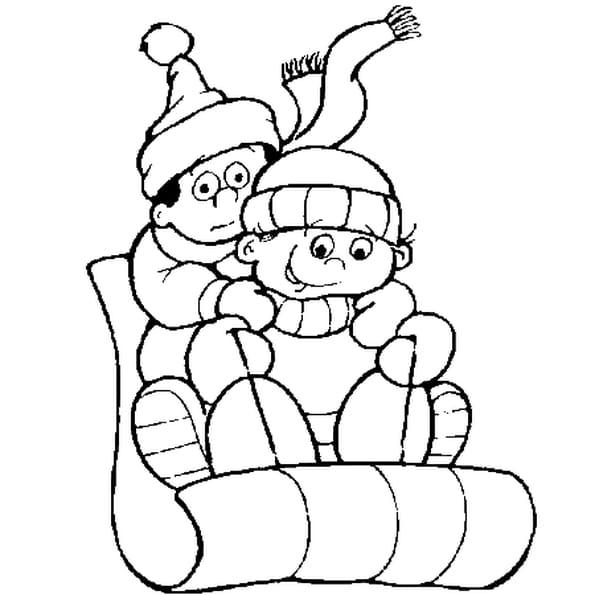 Coloriage dessin neige en Ligne Gratuit à imprimer