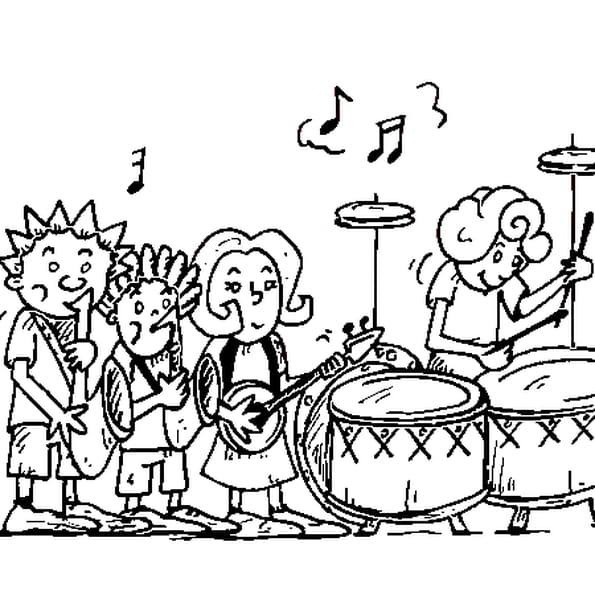 F te de la musique coloriage f te de la musique en ligne - Musique coloriage ...