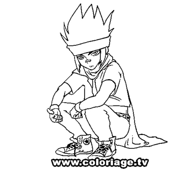 Dessin Beyblade ginga a colorier
