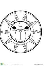 Mandala ours, pour les petits