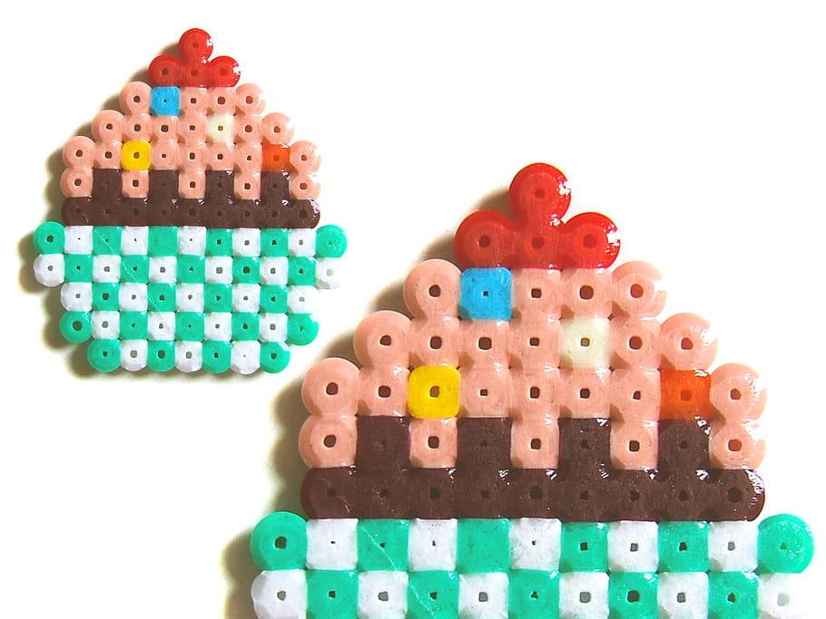 Cupcake en perles à repasser