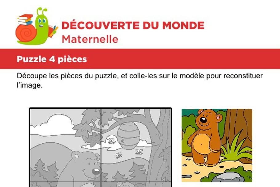 Puzzle 4pièces, des ours et du miel