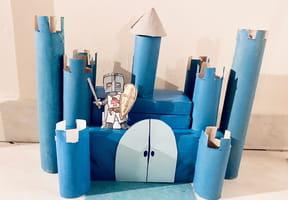 Château fort en rouleaux de papier toilette