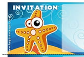 Carte invitation anniversaire étoile de mer