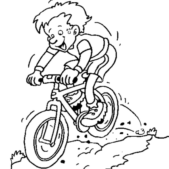 Dessin vélo cross a colorier