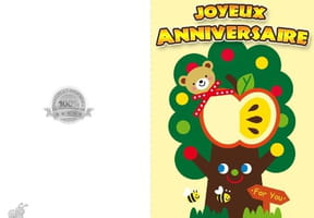 Carte anniversaire arbre rigolo