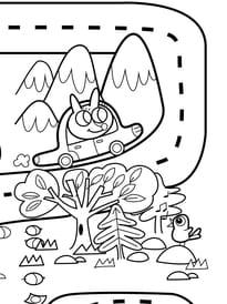 Coloriage géant du jeu de la route numéro4