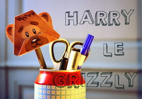 Pliage Harry le grizzly