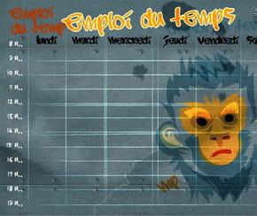 Emploi du temps singe