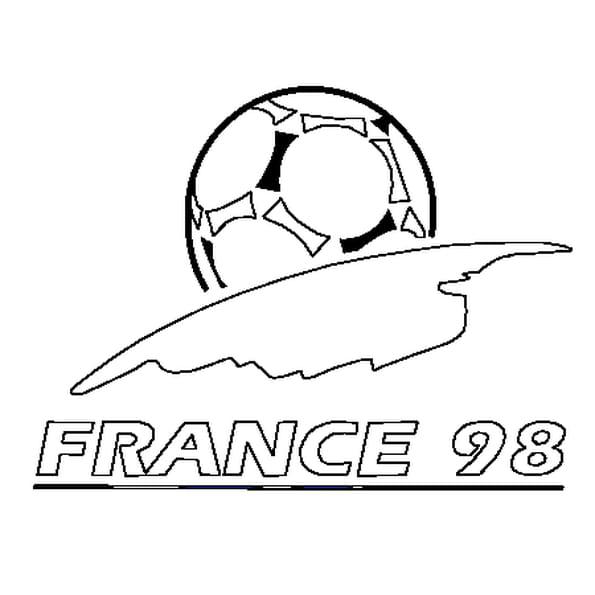 Coloriage Coupe du Monde 98 en Ligne Gratuit à imprimer