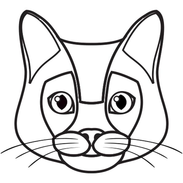 Chat siamois coloriage chat siamois en ligne gratuit a imprimer sur coloriage tv - Chat coloriage masque ...