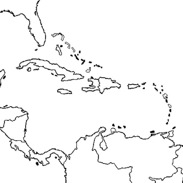 Dessin Amérique Centrale a colorier