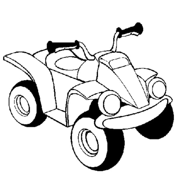 Dessin Quad Moto a colorier