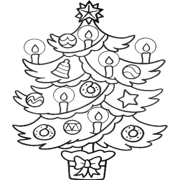 image sapin noel coloriage
