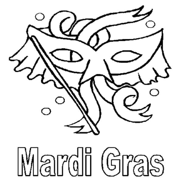 Coloriage Mardi Gras En Ligne Gratuit à Imprimer