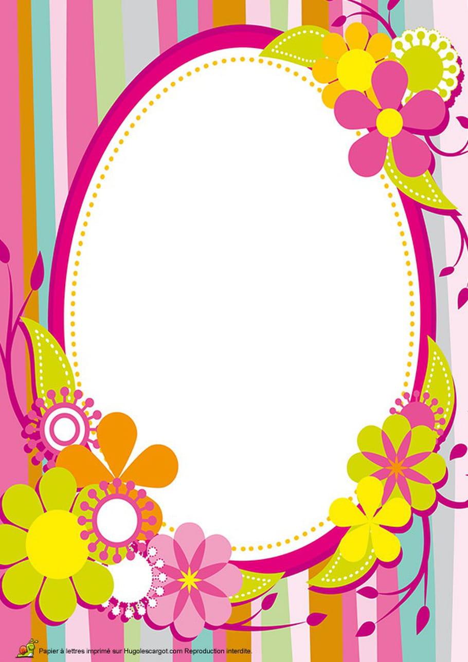 Carte œuf Pâques vintage