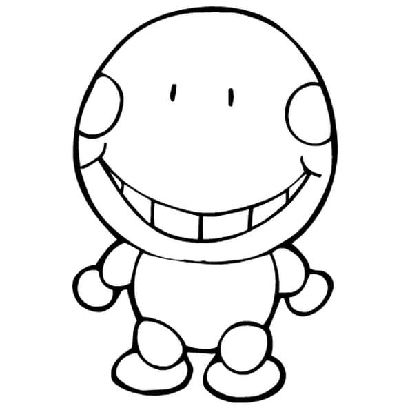 Coloriage bonhomme en ligne gratuit imprimer - Image sourire gratuit ...