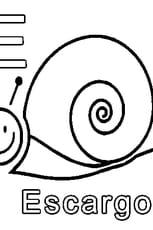 Coloriage E comme Escargot en Ligne Gratuit à imprimer