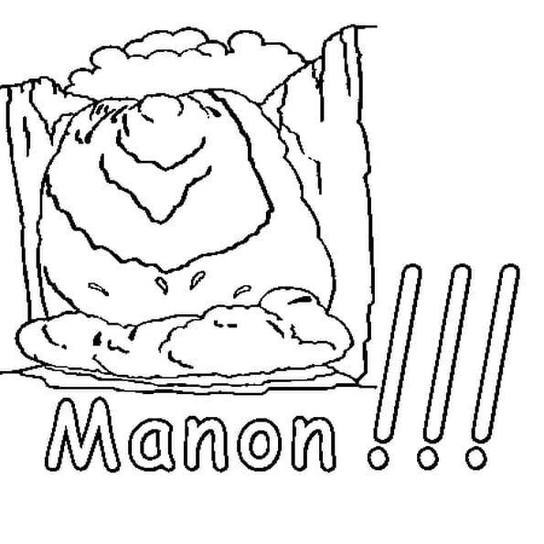Dessin Manon a colorier