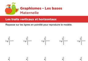 Les bases du graphisme, les traits horizontaux et verticaux niveau 1