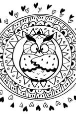 Coloriage mandala hibou en Ligne Gratuit à imprimer