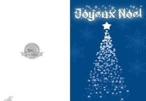 Carte de Noël sapin bleu