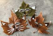 Masques en feuilles d'automne [VIDEO]