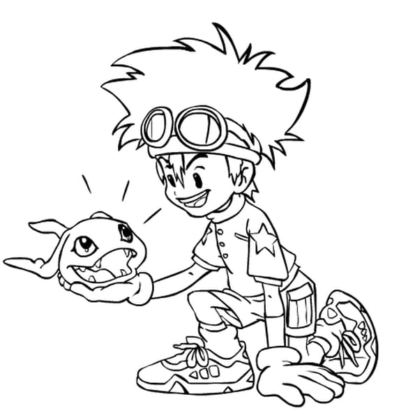 Dessin digimon a colorier